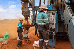 Drilling operators on site